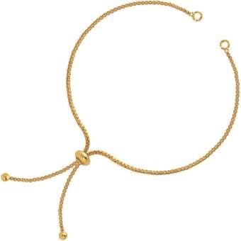 Armband mit Schiebe-Verschluss, gold-farben Armband - gold