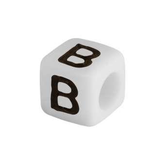 """Buchstabenperle """"B"""", weiss Buchstabenperle """"B"""""""