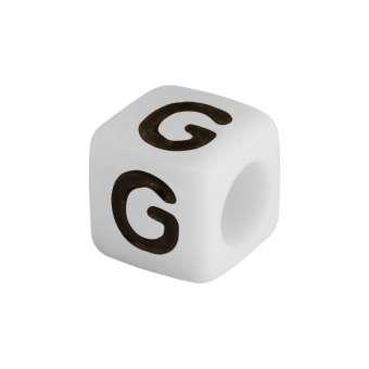 """Buchstabenperle """"G"""", weiss Buchstabenperle """"G"""""""
