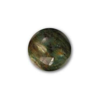 Cabochon, Ø 10 mm, Edelstein (Australian Blood Stone), rund Amethyst
