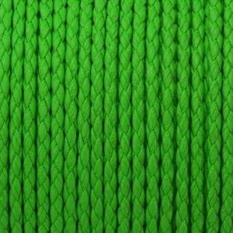 Geflochtenes Kunstlederband, 100cm, 4mm breit, neongrün neongrün