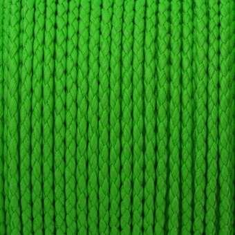 Geflochtenes Kunstlederband (100cm), 3mm breit, rund, neon grün neon grün