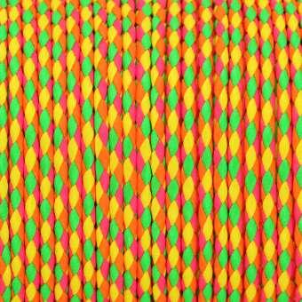 Geflochtenes Kunstlederband, 100cm, 3mm breit, gelb multi-neonfarben gelb multi-neonfarben