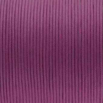Gewachstes Baumwollband, 100cm, 2mm breit, dunkelviolett dunkelviolett