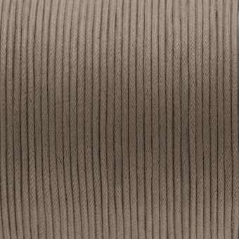 Gewachstes Baumwollband, (100cm), 2mm breit, braun-beige braun-beige