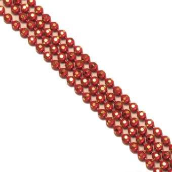Schmuckkette, 20cm, 1,5mm breit, rot (gold) rot (gold)