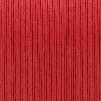Gewachstes Baumwollband, 1,2mm breit, 100cm, rot rot