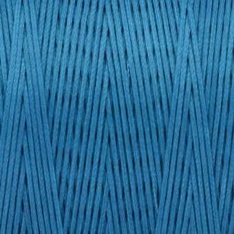 Gewachstes Band in Baumwolloptik (100cm), 1mm X 0,4mm breit, safirtürkis safirtürkis