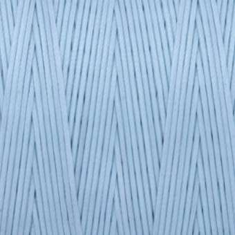 Gewachstes Band in Baumwolloptik (100cm), 1mm X 0,4mm breit, hellblau hellblau