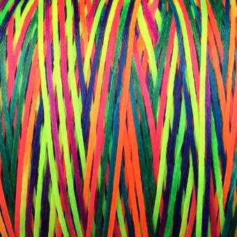 Gewachstes Band in Baumwolloptik (100cm), 1mm X 0,4mm breit, multicolor bunt