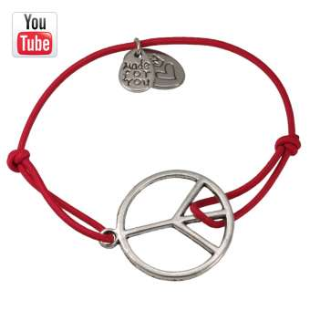 Video Anleitungung elastisches Armband mit Peace Charm