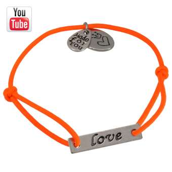 Video Anleitungung elastisches Armband mit Love Charms