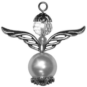 Perlenengel (2 Stück) aus Wachsperle