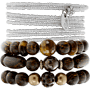 Edelstein Perlen Armband