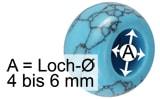 Grosslochperlen Lochdurchmesser