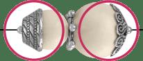 Perlenkappen für Perlenmännchen