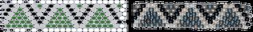 Rocailles Perlen Vorlage Netztechnik
